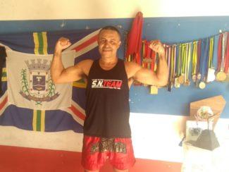Sanchirles Nogueira preparando a despedida dos rings