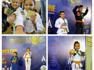 Jovens atletas da equipe Giga Fighter/Relson Gracie Vandesteen Brothers faturam medalhas no fim de semana