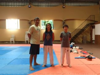Eduardo Tashima na disputa do Grand Slam de Tae Kwon Do
